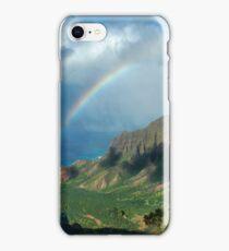 Rainbow at Kalalau Valley iPhone Case/Skin