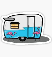 retro blue campers Sticker