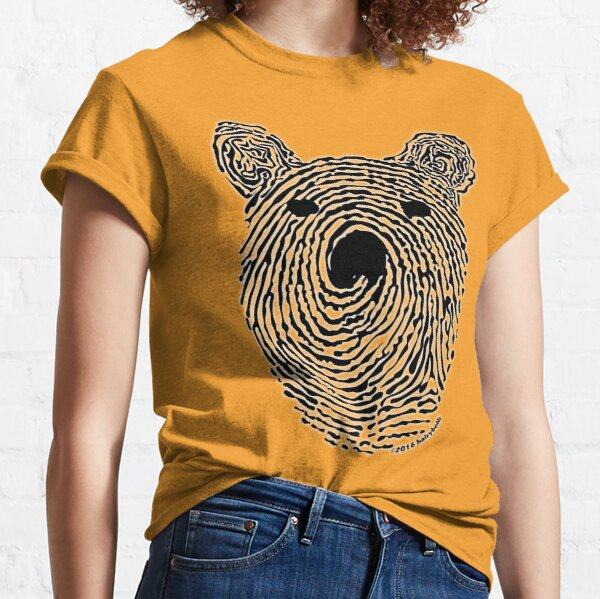 Bear Print Classic T-Shirt