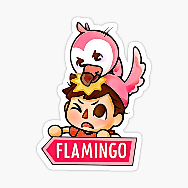 Watercolor Pink Flamingo Sticker
