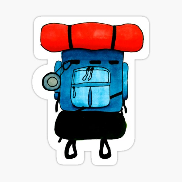 Backpacking Sticker