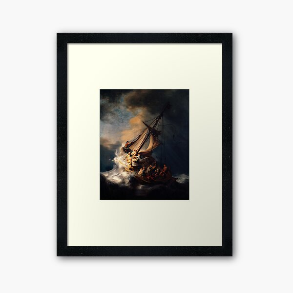 The Storm on the Sea of Galilee by Rembrandt Framed Art Print