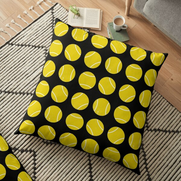 Padel or tennis balls pattern Floor Pillow