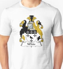 White Coat of Arms / White Family Crest T-Shirt