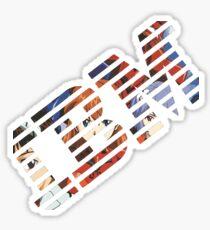 Vaporwave IBM/Neon Genesis Evangelion Mashup Sticker