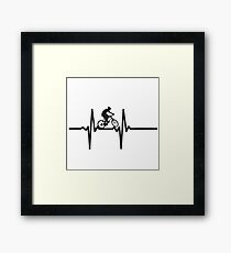 ride on Bicycle, Hearth beat Framed Print