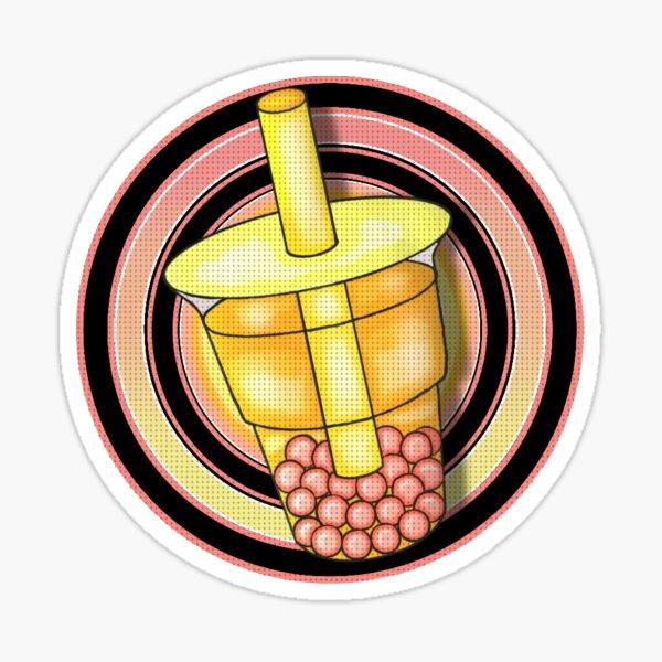 Retro Bubble Tea Sticker