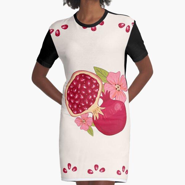 Pomegranate  Graphic T-Shirt Dress