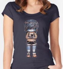 Smile Baby Photographer Women's Fitted Scoop T-Shirt