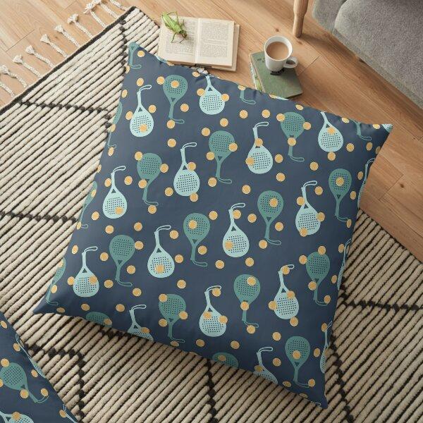 Green padel pattern Floor Pillow