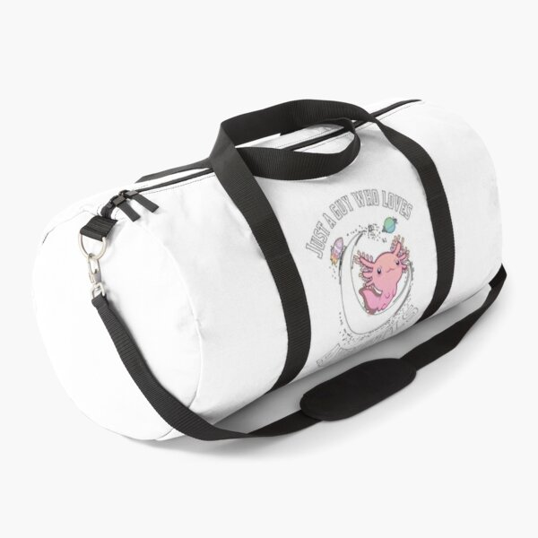 Guy who loves axolotl, axolotl lover Duffle Bag