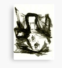 Sumi-E Painting - Gate Canvas Print
