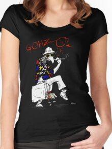 Gonzo- Fear and Loathing in Las Vegas parody Women's Fitted Scoop T-Shirt