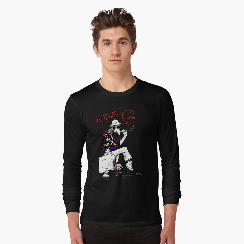 Gonzo- Fear and Loathing in Las Vegas parody Long Sleeve T-Shirt Front