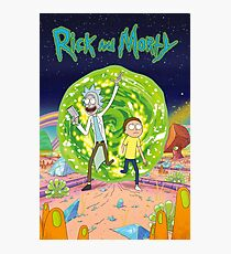 Rick and Morty - Portal Photographic Print