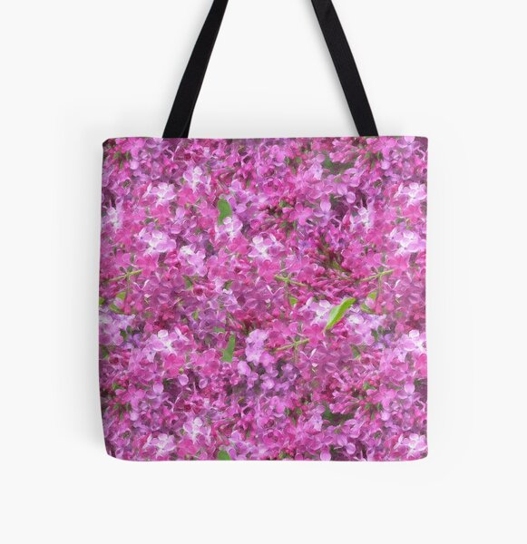 Smelling the Lilacs by Tea with Xanthe All Over Print Tote Bag