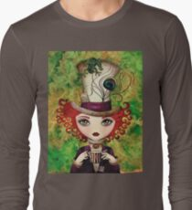 Lady Hatter (w/background) T-Shirt