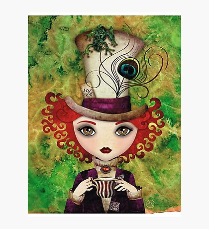 Lady Hatter (w/background) Photographic Print