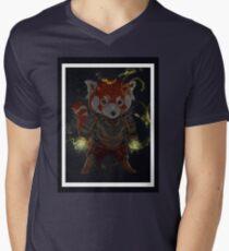 Magical Red Panda Mens V-Neck T-Shirt