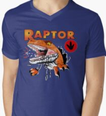Ghost World raptor Men's V-Neck T-Shirt