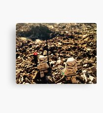 Lego Star Wars Stranded Stormtroopers Minifigure  Canvas Print