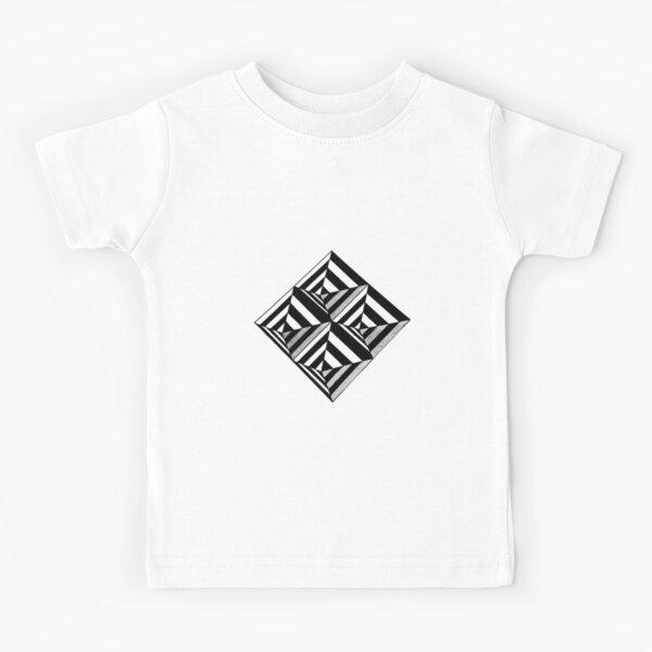 Diamond Shaped Optical Illusion Art Kids T-Shirt