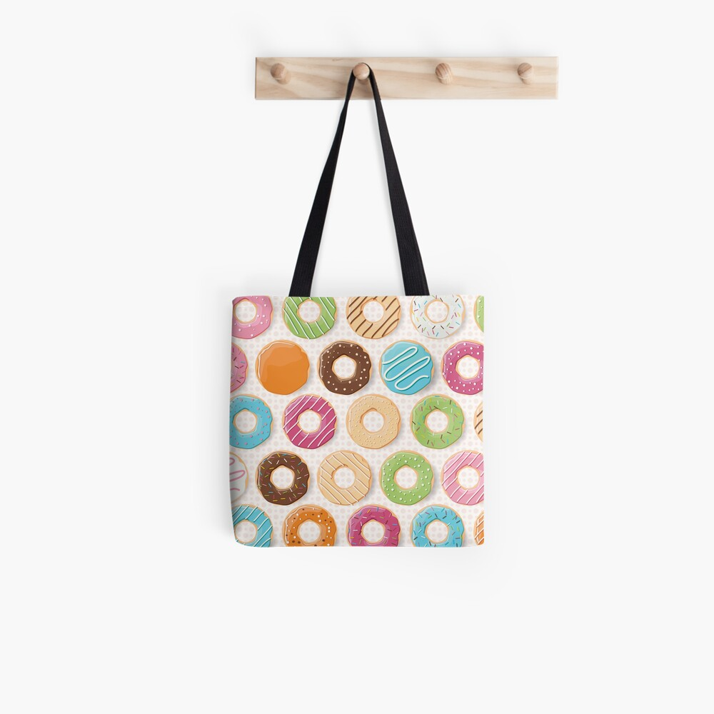 Donut-Muster Stofftasche