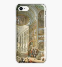 Vintage famous art - Giovanni Paolo Panini - Ancient Rome iPhone Case/Skin