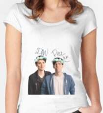 Dan And Phil Women's Fitted Scoop T-Shirt
