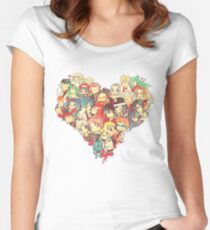 Fairies in Love Fitted Scoop T-Shirt