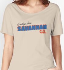 Greetings from Savannah Women's Relaxed Fit T-Shirt