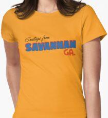 Camiseta entallada Saludos desde Savannah
