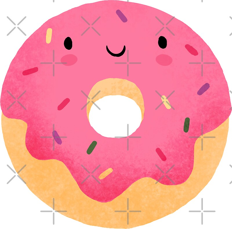 Quot Happy Donut Quot Stickers By Milkandcookies Redbubble