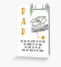 Happy Fathers Day from Your Fur Baby Greeting Card