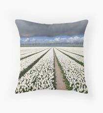 Tulips before the storm Throw Pillow
