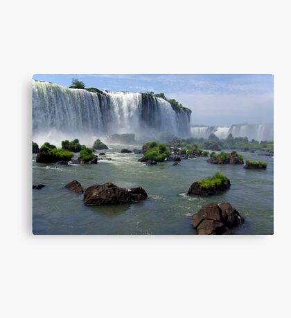 At the edge of the Devil's Throat Canvas Print