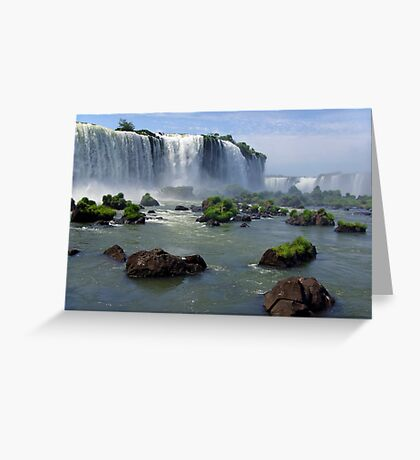 At the edge of the Devil's Throat Greeting Card