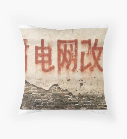 On the walls of China Throw Pillow