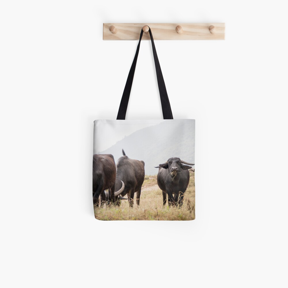 Water Buffalo in Gyachchok (Gorkha district) Tote Bag