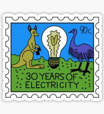 30 Years of Electricity Sticker
