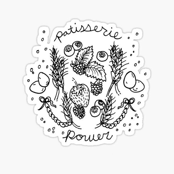patisserie power Sticker