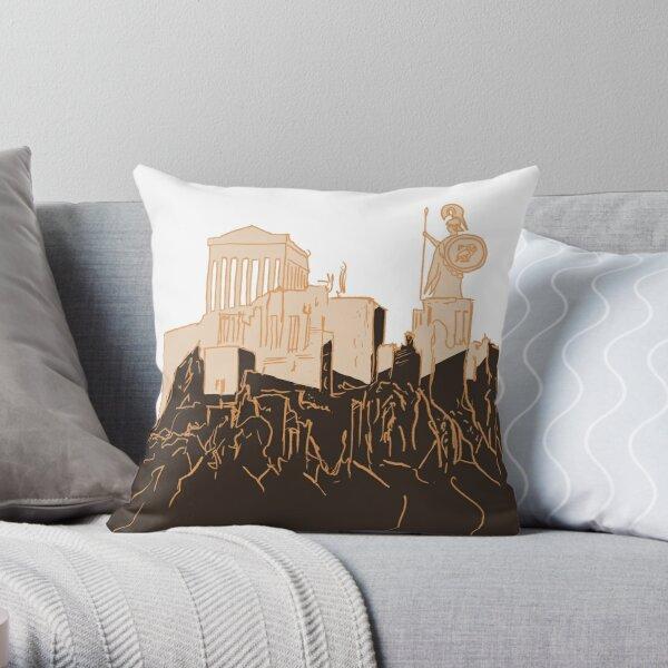 Acropolis of Athens Throw Pillow