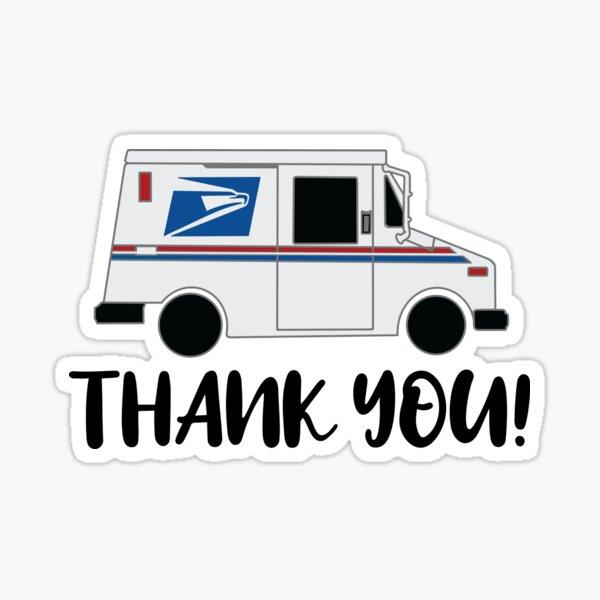 Thank You Mail Truck Sticker