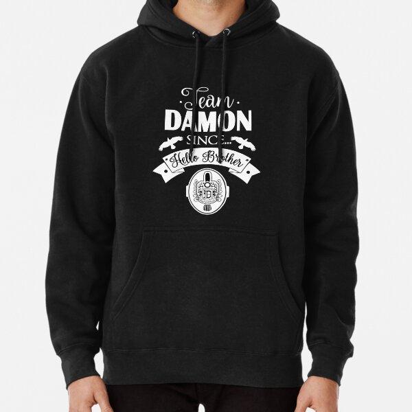 The-Vampire-Diaries-Shirt-Team-Damon-Since-Hello Brother Sweat à capuche épais