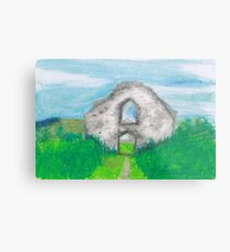 Hen Eglwys, Chapel on the Hill - Pastel Drawing Metal Print
