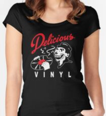 Delicious Vinyl Women's Fitted Scoop T-Shirt