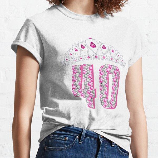 40 y fabuloso 40 años de edad 40 cumpleaños Camiseta clásica