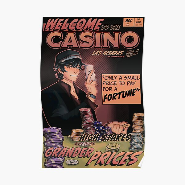 Quackity Casino Dream SMP Las Nevadas Comic Poster Poster