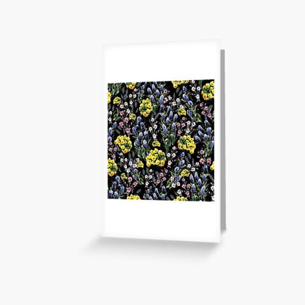 Bloom floral printanier québécois Carte de vœux