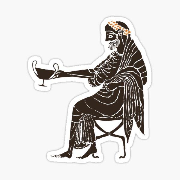 Dionysus - God of Wine & Dance Sticker